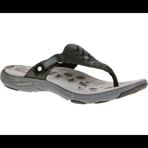 e732ec8b0559 Merrell Shoes - Merrell Adhera Thong Sandal in Black Size 9